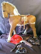 Old Vintage Cowboy Hat Spurs Boots Saddle Carson Toy Cap Western Ride On Horse