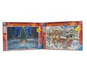 Ravensburger Christmas Limited Edition And Christmas 1000 Piece Puzzle Lot Of 2