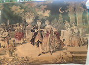 Antique Large 66 X 48 Handmade Quality European Tapestry Wall Hanging