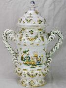 Large Antique French Apothecary Jar - Faience De Moustiers 21andfrac14