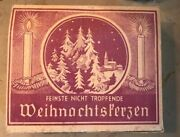 Antique Christmas Tree Decorations In Charming Antique German Card Box