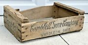 Primitive Wooden Campbell Soups Crate 66 Antique Country Wood Box Napoleon Ohio