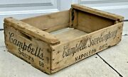 Primitive Wooden Campbell Soups Crate 68 Antique Country Wood Box Napoleon Ohio