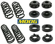 4 Coil Springs And Insulators Moog Front And Rear For Jeep Grand Cherokee 99-04