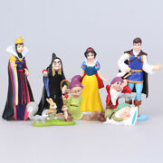 8 Pcs Princess Snow White And The Seven Dwarfs Evil Queen Cake Topper Figures Toy