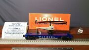 Lionel 3419 Flat Car With Double Blade Navy Helicopter Orig.box And Instr.