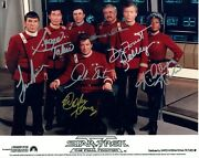 Star Trek The Final Frontier Hand Signed 10x8 Col Photo Autographed By All Cast