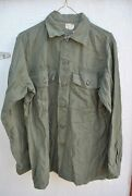 Us Army Vietnam 1960and039s Sateen Utility Shirt 2nd Pattern 15 1/2 X 33 Og-107 T17