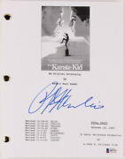 Ralph Macchio Signed The Karate Kid Movie Script Beckett Coa Daniel Larusso