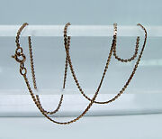 Russian Vintage 14k Rose Gold Chain Necklace 16.5 Ussr Hammer And Sickle 1950s