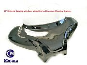 38 Universal Motorcycle Cruiser Batwing Fairing W/ Clear Windshield And Hardware