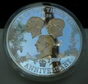 1936 Year Of The Kings -three Kings, Britannia Silver Proof 5oz Plated In Gold