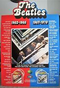 The Beatles Rare Large Uk Rec Com Promo 3d Shop Standee Red And Blue Albums 1993