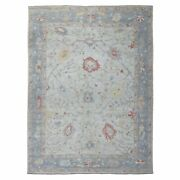 8and0398x11and0395 Ivory Angora Oushak With Velvety Wool Hand Knotted Rug R54506