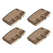 Stupid Car Tray Multi Function Food And Drink Travel Organizer, Brown 4 Pack