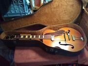 1954 Serial Number 9250 Gretsch 6014 Synchromatic 100 Archtop Guitar And Case