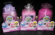 Pikmi Pops Cheeki Puffs Medium Collectible Scented Shimmer Plush Set Of 3 New