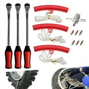 Tire Change Tool Kit With Spoon Lever Rim Protector For Motorcycle And Bicycle Us