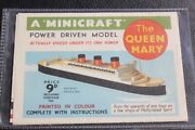 Cunard White Star Line Rms Queen Mary Rare Unmade Mini Paper Model And Modern Copy