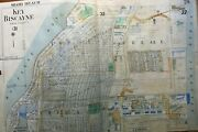 1952 Key Biscayne Dade County Florida Wood To Ocean Drive Atlas Map