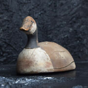Early 20th Century Carved English Decoy Goose