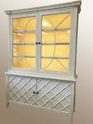 Artesia Beatrice Lighted Cabinet-fabulous Condition Long Dist. Movg Available