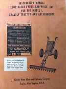 Gravely L Li Ls Walk-behind Garden Tractor Owner Operating And Parts Manual 1951