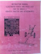 Gravely L Li Ls Walk-behind 2-whee Lawn Garden Tractor Owner And Parts Manual 1951