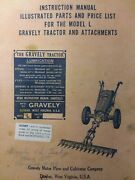 Gravely L Li Ls Walk-behind Lawn Garden Tractor Owner And Parts Manual 1951