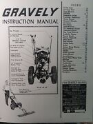 Gravely L Li Ls Walk-behind Garden Tractor And Implement Owner And Parts Manual 1955