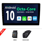 Dvr+cam+obd+iso Android 10 2 Din 10.1 Lcd Car Stereo Gps Navigation Am/fm Radio