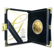 2007 W Us Mint Collectors 50 Proof American Gold Eagle 1 Oz Coin With Boxandcoa