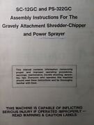 Mighty Mac Shredder Chipper And Power Sprayer For Gravely Owner And Parts Manual