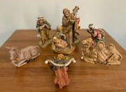Fontanini Nativity Set Large 7.5 Mary Joseph Jesus 3 Kings Donkey Camel Angel