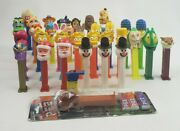 Lot Of 40 Different Pez Dispensers All Types Simpson's Snowman Garfield Whistle