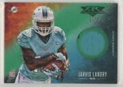 2014 Topps Fire Relics Green /75 Jarvis Landry Fr-jl Rookie