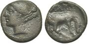 Ancient Greece 4-3 Bc Thessaly Larissa Chalkous Nymph Horse