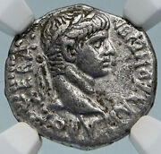Nero Authentic Ancient 56ad Silver Roman Antioch Drachm Coin Tripod Ngc I84990