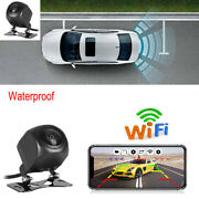 Wireless Wifi Car Rear View Cam+radar Hd Night Vision Iphone Android Universal