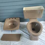 Vintage 1980and039s Bathroom Sink And Toilet Kohler -rare Plum Color -freight Shipped