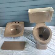 Vintage 1980's Bathroom Sink And Toilet Kohler -rare Plum Color -freight Shipped