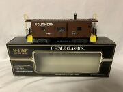 ✅k-line By Lionel Smoking Southern Bay Window Caboose For Diesel Engine Smoke