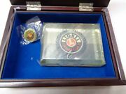 Lionel Trains Century Club 2001-2005 Wooden Jewelry Box Paperweight Pin Set New
