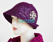 Most Wanted Tweed Jeweled Gripoix Cap Hat 57 New