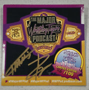 The Major Wrestling Figure Podcast Pin 1 Le 100. Sold Out Rare Moc. Dual Auto