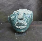 Part Of A Very Nice Stone Mask Teotihuacan Mexico 100-700 Ad