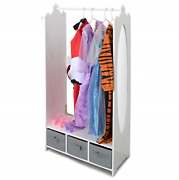 Milliard Dress Up Storage Kids Costume Organizer Center Open Hanging Armoire For