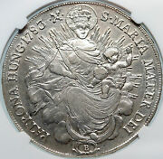 1783 Hungary King Joseph Ii Madonna And Jesus Antique Silver Taler Coin Ngc I85325