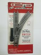 Deluxe Pike Master American Flyer Right Hand Manual Switch S Gauge 26323 New