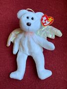 Rare 1998 Retired Ty Halo Beanie Baby Mint Condition With Brown Nose And Errors